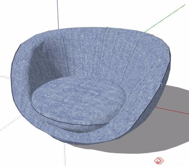 单人沙发及长形沙发su模型