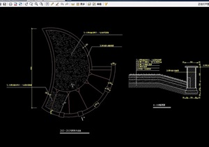 水池设计cad平剖面图