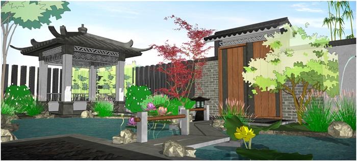 新中式庭院(3)
