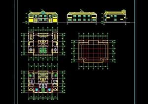 两层小别墅cad方案设计